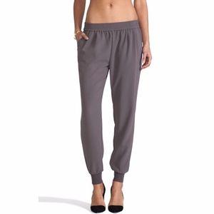 Joie Mariner Crepe Steel Gray Jogger Pants